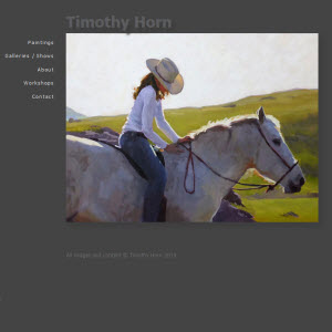 Home page for Marin Artist Tim Horn