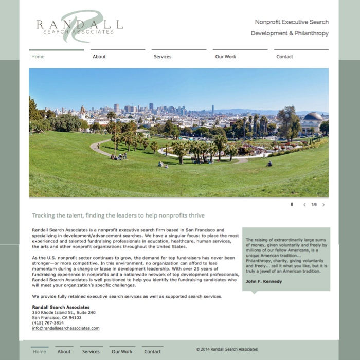 Randall Search website