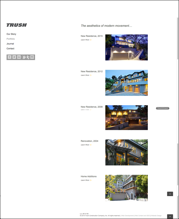 Trush - Contractor Website Design Portfolio